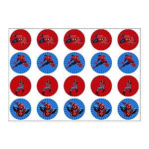 20 Adesivos Homem Aranha Redondo 4,7cm