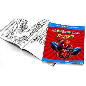 5 Cadernos de Colorir Homem Aranha