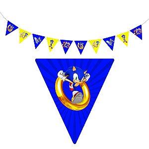 10 Bandeirolas Triangular Sonic