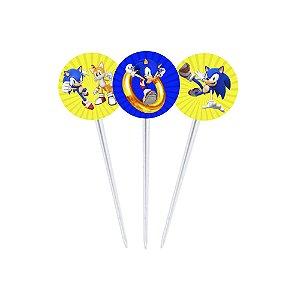 20 Toppers para Docinhos Sonic