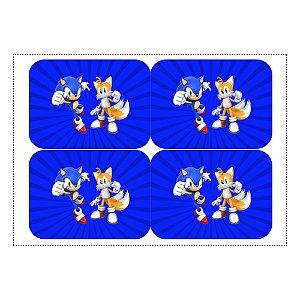 12 Adesivos Sonic para Marmitinha 240ml