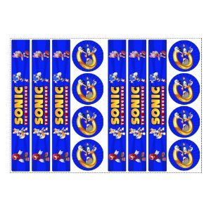 6 Adesivos Sonic para Pote de Papinha