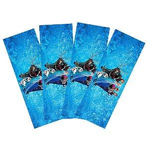 8 Adesivos Frozen Retangular 20x7cm