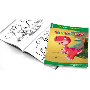 5 Cadernos de Colorir Dinossauros Baby