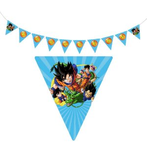 10 Bandeirolas Triangular Dragon Ball