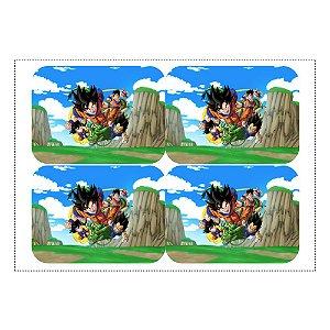 12 Adesivos Dragon Ball para Marmitinha 240ml