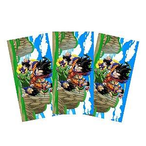 6 Adesivos Dragon Ball Retangular 20x10cm