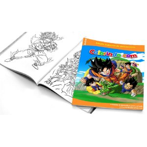 5 Cadernos de Colorir Dragon Ball