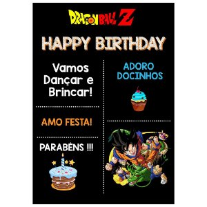 Chalk Board Dragon Ball 22x32cm - 1 Unidade