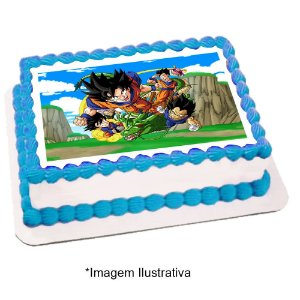 Papel de Arroz Dragon Ball 28x20cm - 1 Unidade