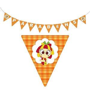 10 Bandeirolas Triangular Emília