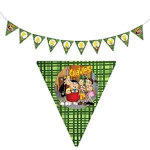 10 Bandeirolas Triangular Chaves