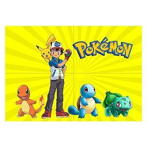 Painel de Festa Decorativo Pokémon - 1 Unidade