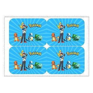12 Adesivos Pokémon para Marmitinha 240ml