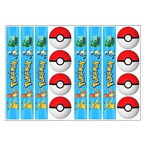 6 Adesivos Pokémon para Pote de Papinha