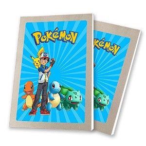 5 Bloquinhos de Papel 25 Folhas Pokémon