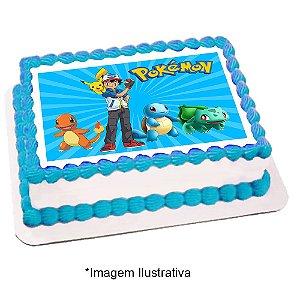 Papel de Arroz Pokémon 28x20cm - 1 Unidade