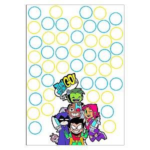 Quadro de Assinaturas e Digitais Teen Titans 30x43cm - 1 Unidade