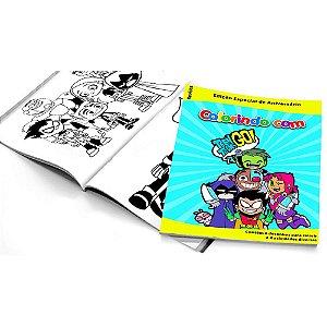 5 Cadernos de Colorir Teen Titans