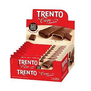 Caixa Chocolate Trento Crepe Chocolate 14g com 16 Unidades