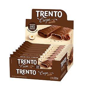 Caixa Chocolate Trento Crepe Avelã 14g com 16 Unidades