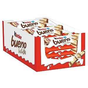 Caixa Chocolate Kinder Bueno White 39g com 15 Unidades