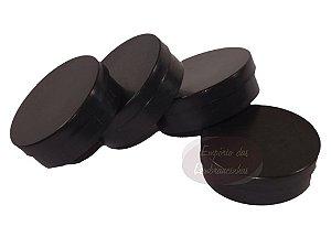 Atacado - Latinhas de Plástico Mint to Be 5,5x1,5 cm Preta - Kit com 1.000 unids