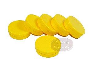 Atacado - Latinhas de Plástico Mint to Be 5,5x1,5 cm Amarelas - Kit com 1.000 unids