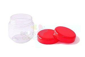 Pote de Papinha de Plástico 120gr - Vermelho - 10 Unids