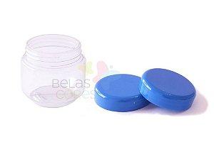 Pote de Papinha de Plástico 120gr - Azul Royal - 10 Unids