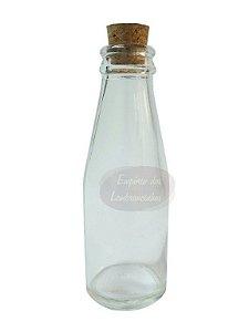 Garrafinha de Vidro para Suco Cajuzinho com Tampa Rolha Vintage - 100ml - Kit c/ 50 unidades