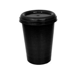 Copo plástico 250ml com tampa Perto - 10 unidades
