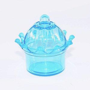 MINI Coroa Acrílica para Lembrancinha - Cor Azul - Kit c/ 10 unidades