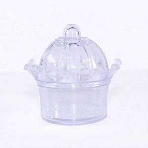 MINI Coroa Acrílica para Lembrancinha - Cor Transparente - Kit c/ 10 unidades