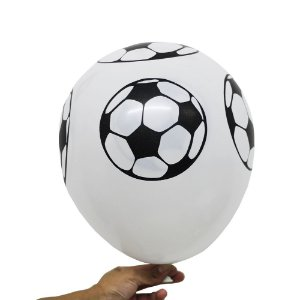 Balão Bexiga Festa Bola de Futebol Branca Nº 11 28cm - 25 Unidades