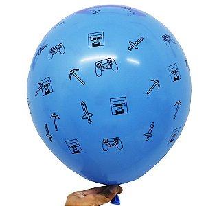 Balão Bexiga Festa Games Sortido Nº 11 28cm - 25 Unidades