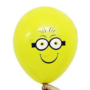 Balão Bexiga Festa Minions Amarelo Nº 11 28cm - 25 Unidades