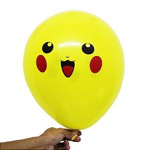 Balão Bexiga Festa Pokemón Sortido Nº 11 28cm - 25 Unidades