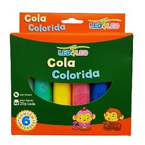 Cola Colorida 6 Cores 25 Gr - Leo&leo