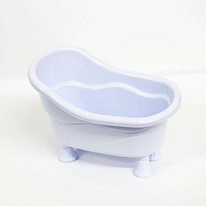 Banheirinha Branca Pequena com PÉ  Branco- 1 unidade