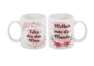 Caneca Dia Das Mães 300ml Melhor Mãe do mundo - 1 unidade