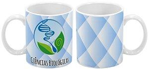 Caneca Profissão 300 ml Ciências Biológicas - 1 unidade