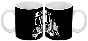 Caneca Profissão 300 ml Engenharia Civil - 1 unidade