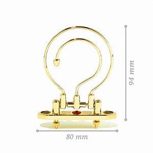 Gancho Dourado Luxo - Grande - Com Pedras