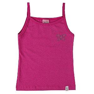Blusa de Alças Pink com Laço