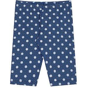 Calça Infantil Capri Azul com Bolinhas