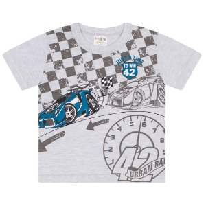 Camiseta Infantil em Meia Malha Mescla