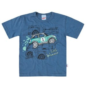 Camiseta Estampada Little Winner Roxo