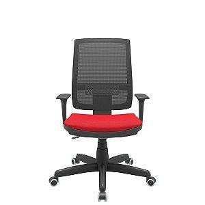 Cadeira Diretor EscritórioGiratória Encosto em Tela Braços Reguláveis Brizza  Ergonomica Home Office Corporativa