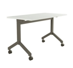 Mesa para Escritorio Dobravel Rebativel Home Office Reta 1,20 X 0,60 M 25 Mm Escrivaninha Rodinhas
